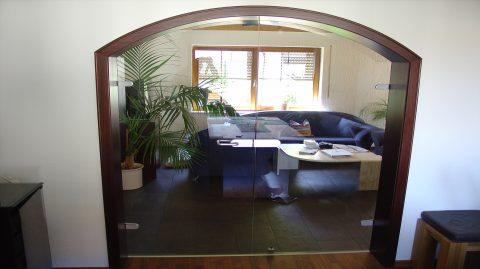 glast r zweiteilig pfokli braun glas spiegelstudio. Black Bedroom Furniture Sets. Home Design Ideas