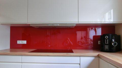 k chenr ckwand 3 teilig rot strwai braun glas. Black Bedroom Furniture Sets. Home Design Ideas