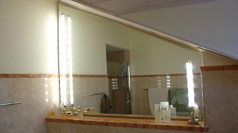 Spiegel Mit Leuchte Pipe Pfogut Braun Glas Spiegelstudio